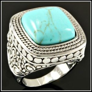 Other - 18k Gold High Polish Layer with Turquoise.